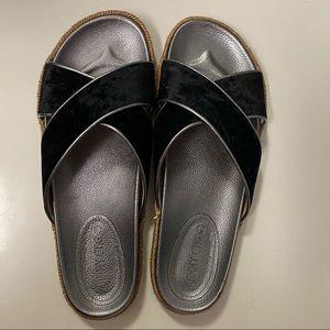 Jimmy Choo Black Suede Slides